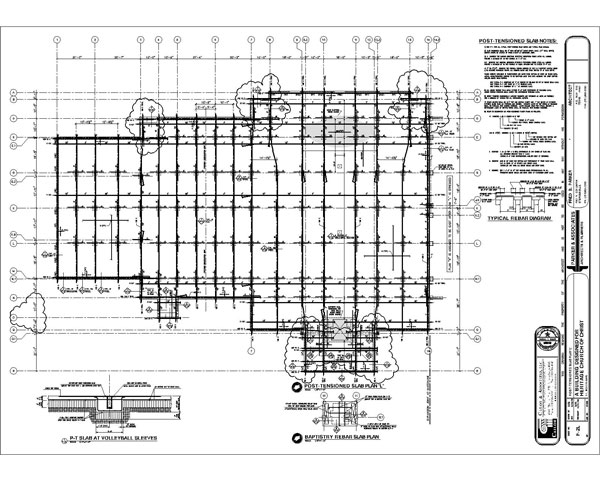 Post Tension Drawing : Cailor associates church of christ